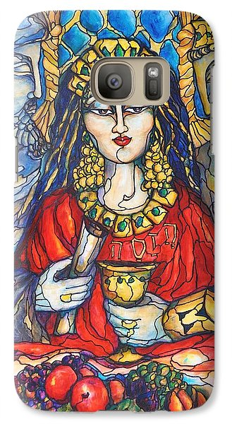 Galaxy Case featuring the painting Queen Esther by Rae Chichilnitsky
