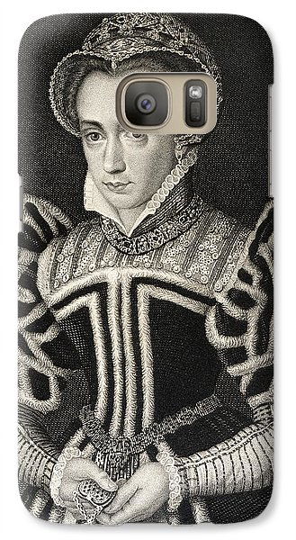 Queen Mary Aka Mary Tudor Byname Bloody Galaxy S7 Case by Vintage Design Pics