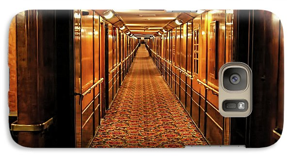 Galaxy Case featuring the photograph Queen Mary Hallway by Mariola Bitner
