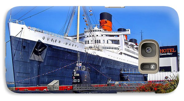 Galaxy Case featuring the photograph Queen Mary Ship by Mariola Bitner