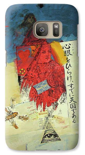 Galaxy Case featuring the mixed media Queen Of Hearts 40-52 by Cliff Spohn