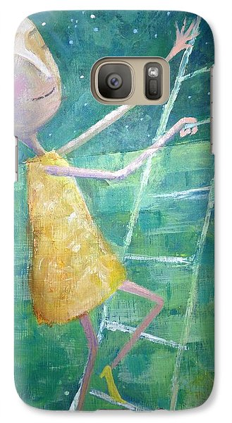 Galaxy Case featuring the painting Queens Climb Higher by Eleatta Diver