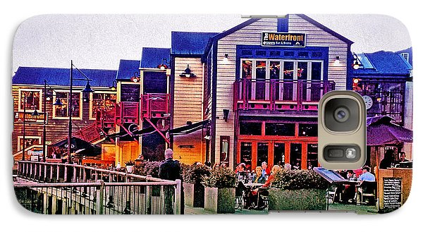 Galaxy Case featuring the photograph Queenstown Waterfront At Sunset by Kathy Kelly