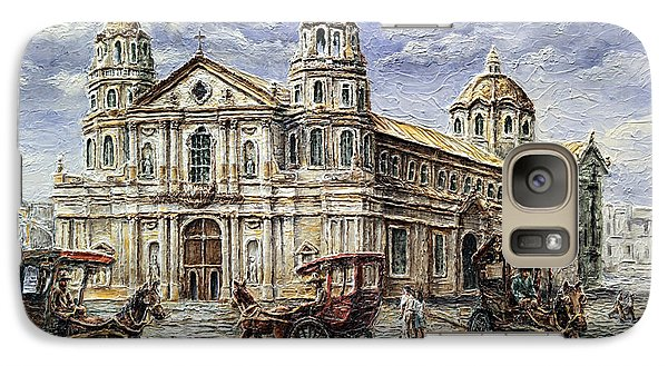 Galaxy Case featuring the painting Quiapo Church 1900s by Joey Agbayani
