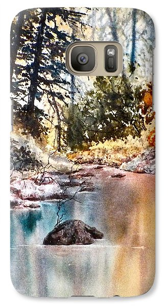 Galaxy Case featuring the painting Quiet Reflections by Carolyn Rosenberger