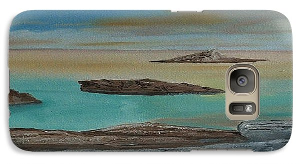 Galaxy Case featuring the painting Quiet Tropical Waters by Rod Jellison