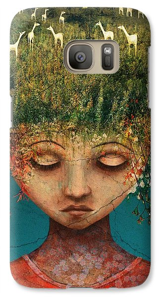 Llama Galaxy S7 Case - Quietly Wild by Catherine Swenson