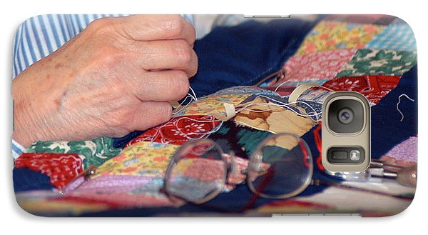 Galaxy Case featuring the photograph Quilter's Hands by Wanda Brandon