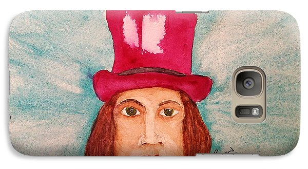 Galaxy Case featuring the painting Quinacridone Hat by Rand Swift