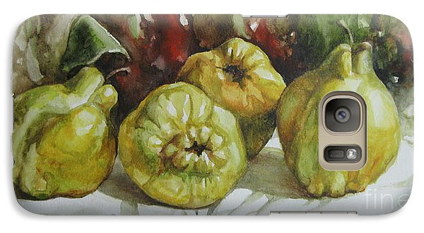 Galaxy Case featuring the painting Quinces by Elena Oleniuc