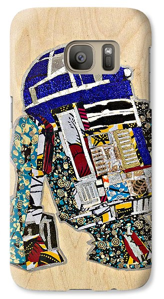 Galaxy Case featuring the tapestry - textile R2-d2 Star Wars Afrofuturist Collection by Apanaki Temitayo M