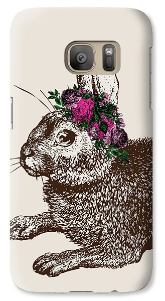 Rabbit And Roses Galaxy S7 Case