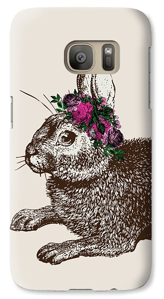 Rabbit And Roses Galaxy Case by Eclectic at HeART
