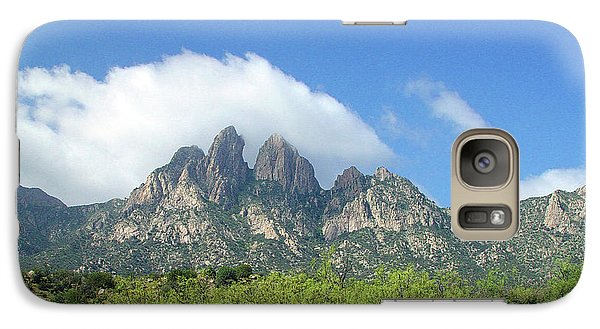 Galaxy Case featuring the photograph  Organ Mountains Rabbit Ears by Jack Pumphrey