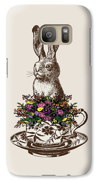 Rabbit In A Teacup Galaxy Case by Eclectic at HeART