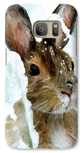 Galaxy Case featuring the painting Rabbit In Snow by James Shepherd