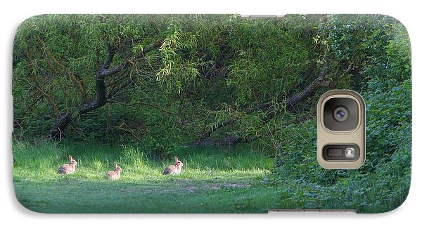 Galaxy Case featuring the photograph Rabbit Meadow by Gary Bridger