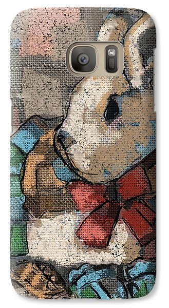 Galaxy Case featuring the painting Rabbit Socks by Carrie Joy Byrnes