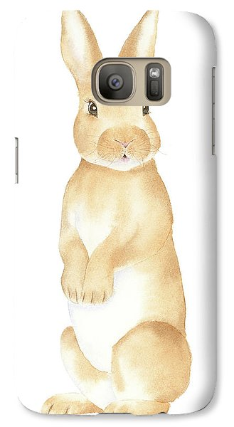 Galaxy Case featuring the painting Rabbit Watercolor by Taylan Apukovska