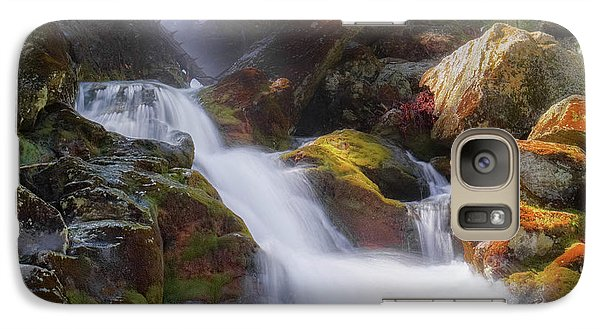 Galaxy Case featuring the photograph Race Brook Falls 2017 Square by Bill Wakeley