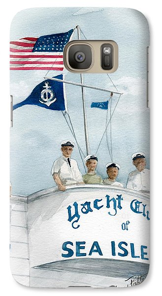 Galaxy Case featuring the painting Race Committee  by Nancy Patterson