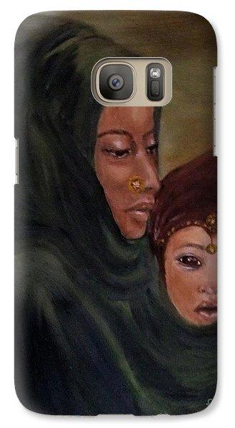 Galaxy Case featuring the painting Rachel And Joseph by Annemeet Hasidi- van der Leij
