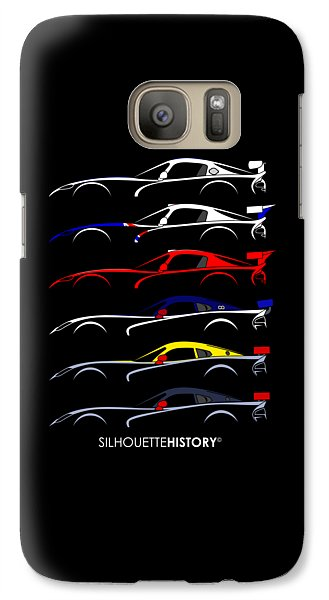 Racing Snake Silhouettehistory Galaxy S7 Case by Gabor Vida