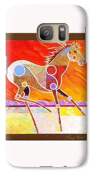 Galaxy Case featuring the painting Racing The Desert by Bob Coonts