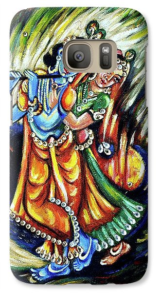 Galaxy Case featuring the painting Radhe Krishna by Harsh Malik