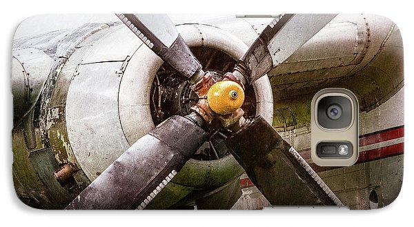 Galaxy Case featuring the photograph Radial Engine And Prop - Fairchild C-119 Flying Boxcar by Gary Heller