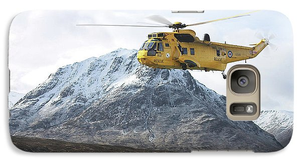 Galaxy Case featuring the digital art Raf Sea King - Sar by Pat Speirs