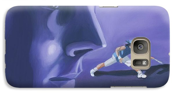 Galaxy Case featuring the painting Rafael Nadal by Quwatha Valentine