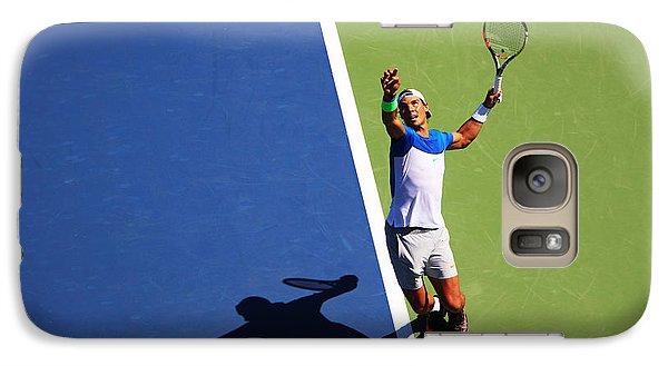 Rafeal Nadal Tennis Serve Galaxy S7 Case by Nishanth Gopinathan