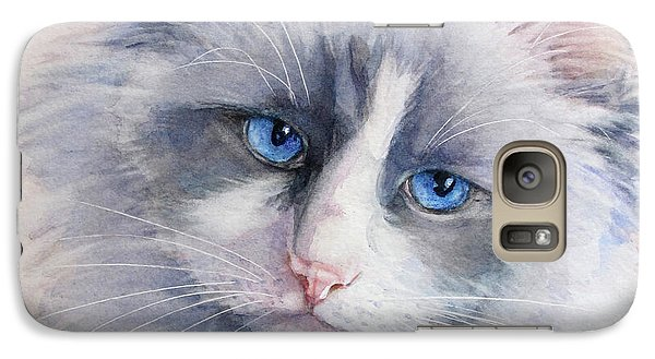 Galaxy Case featuring the painting Ragdoll Cat by Bonnie Rinier