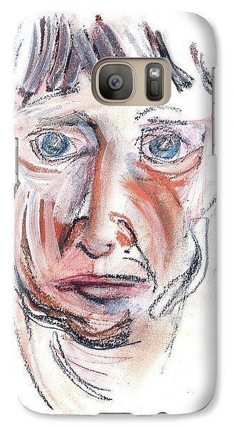 Galaxy Case featuring the drawing Raggedy Selfie by Carolyn Weltman