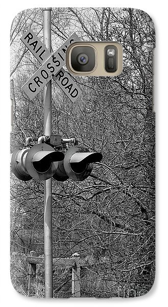 Galaxy Case featuring the photograph Rail Road Crossing by Juls Adams