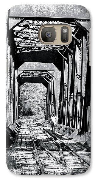 Galaxy Case featuring the photograph Railroad Bridge by Robin Regan