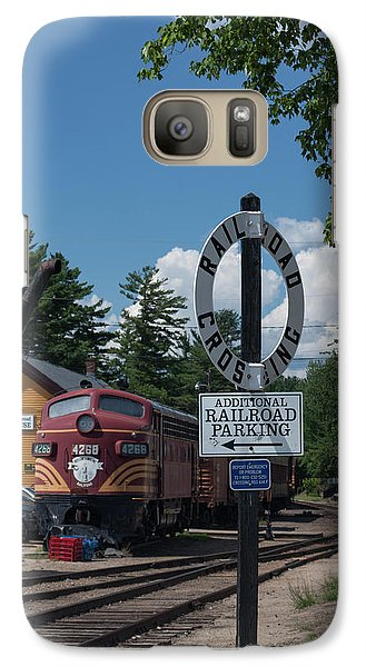 Galaxy Case featuring the photograph Railroad Crossing by Suzanne Gaff