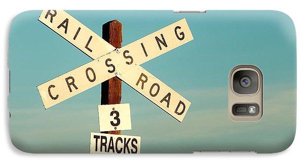 Train Galaxy S7 Case - Railroad Crossing by Todd Klassy