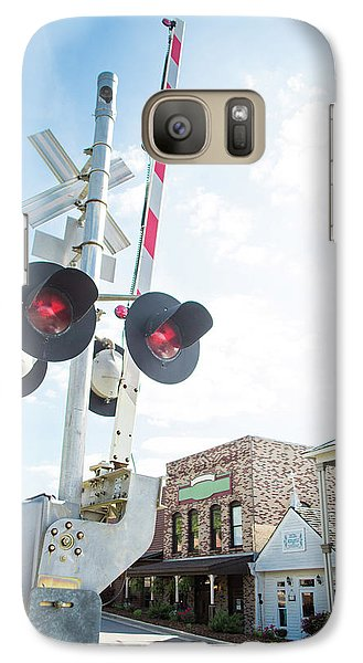Galaxy Case featuring the photograph Railroad Lights In Old Town Helena by Parker Cunningham