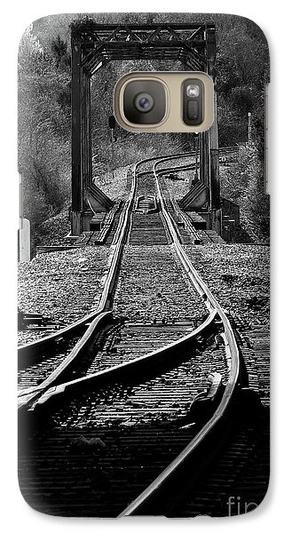 Galaxy Case featuring the photograph Rails by Douglas Stucky