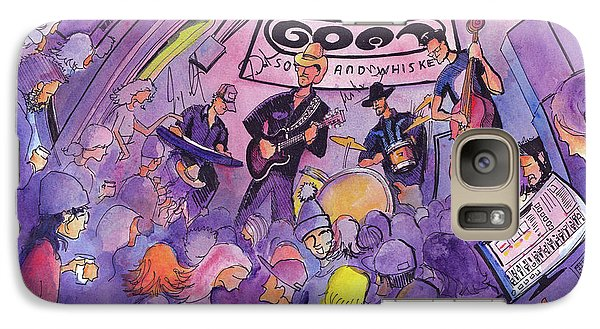 Galaxy Case featuring the painting Railbenders At The Goat Soup And Whiskey by David Sockrider