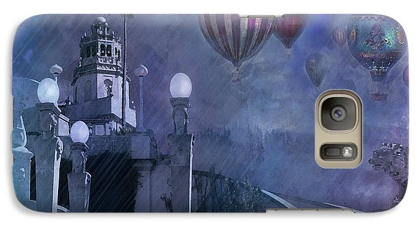 Galaxy Case featuring the digital art Rain And Balloons At Hearst Castle by Jeff Burgess