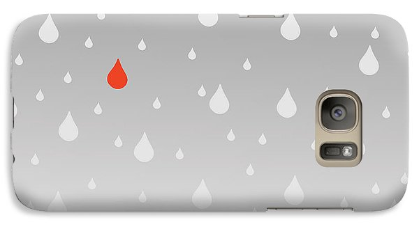 Galaxy Case featuring the painting Rain And Tears by Trilby Cole