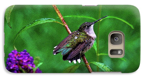 Galaxy Case featuring the photograph Rain Drops Keep Fallen On My Head by Sue Melvin