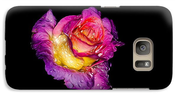 Galaxy S7 Case featuring the photograph Rain-melted Rose by Rikk Flohr