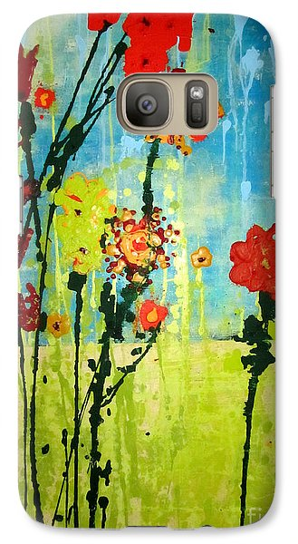 Galaxy Case featuring the painting Rain Or Shine by Ashley Price
