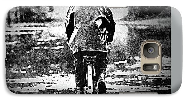 Galaxy Case featuring the photograph Riding-rain Or Shine by Barbara Dudley