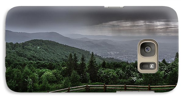 Galaxy Case featuring the photograph Rain Over The Silesian Beskids by Dmytro Korol