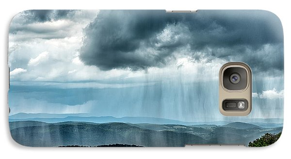 Galaxy Case featuring the photograph Rain Shower Staunton Parkersburg Turnpike by Thomas R Fletcher